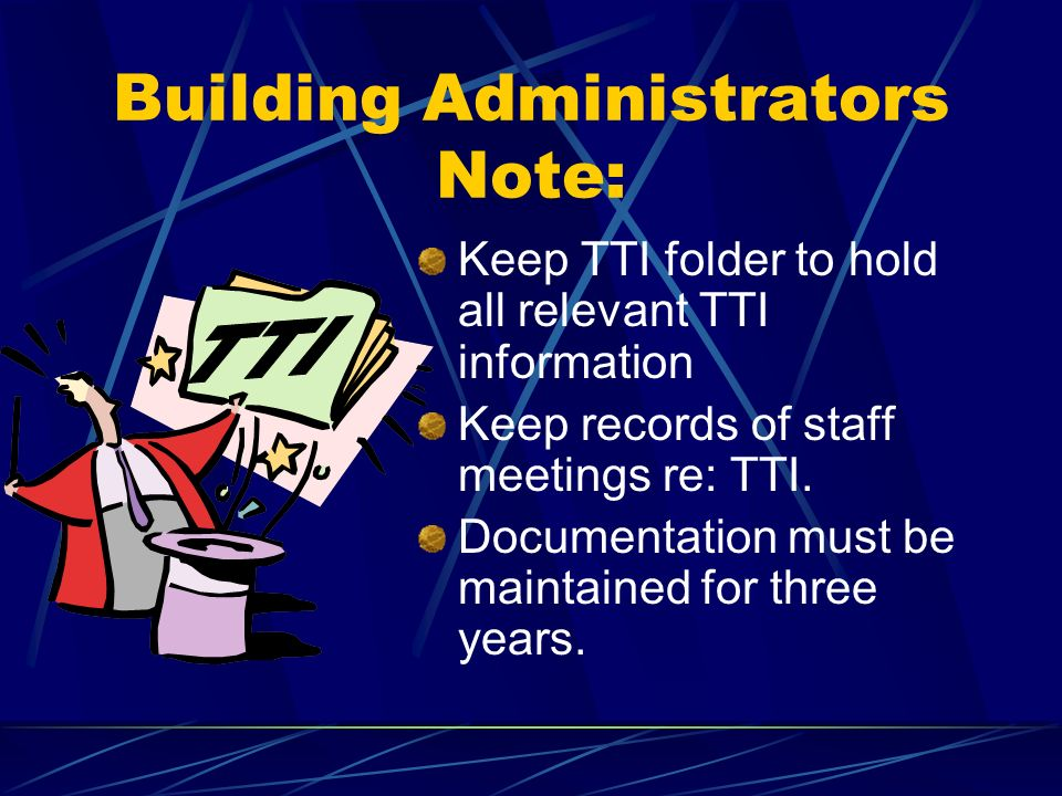 Buildings Can Prepare Determine eligibility w/ teacher.