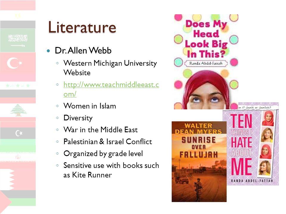 Literature Dr. Allen Webb Western Michigan University Website http://www.teachmiddleeast.c om/ http://www.teachmiddleeast.c om/ Women in Islam Diversi