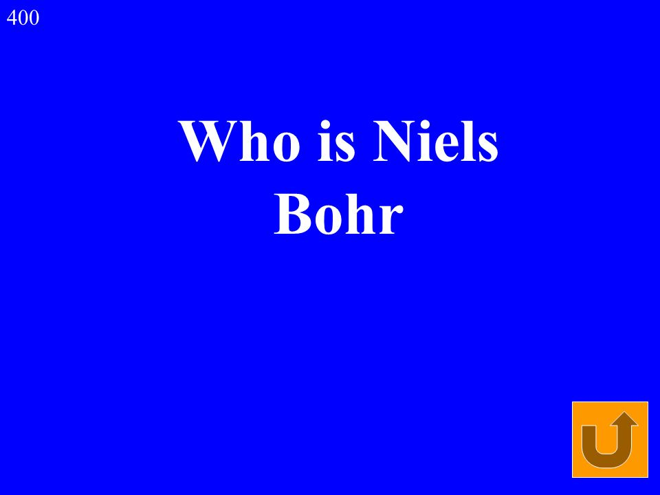 Who is Niels Bohr 400