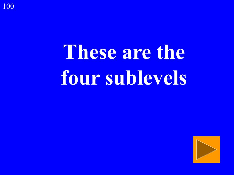 These are the four sublevels 100