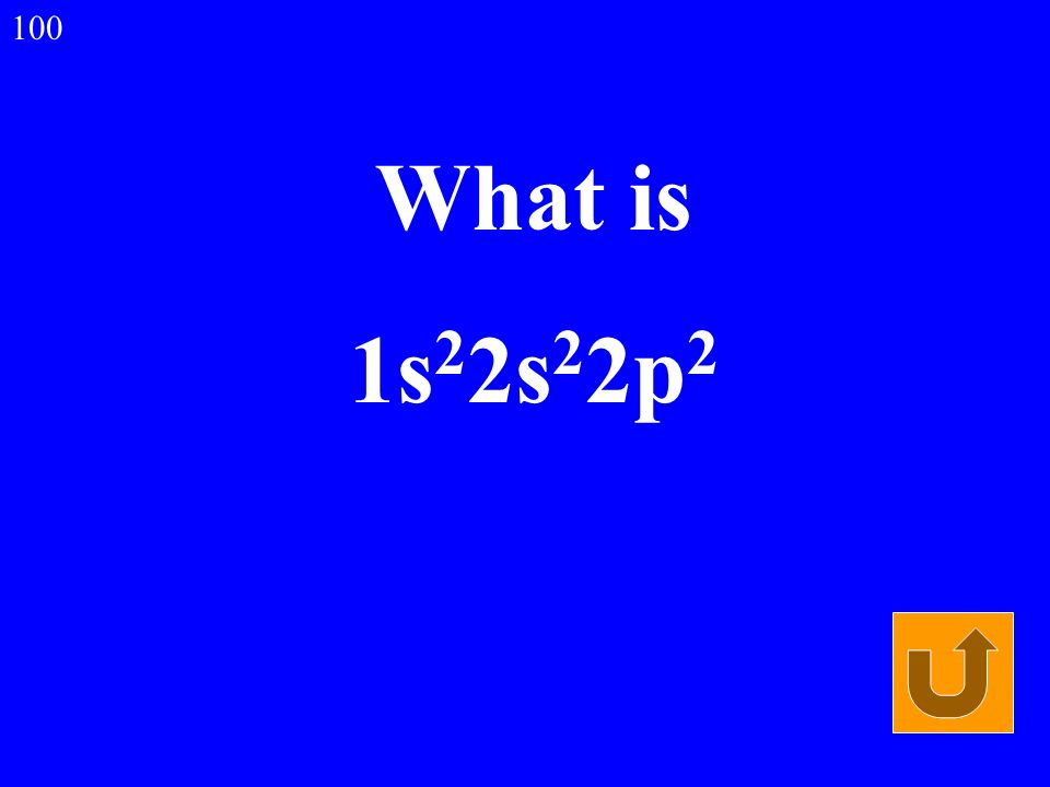 What is 1s 2 2s 2 2p 2 100