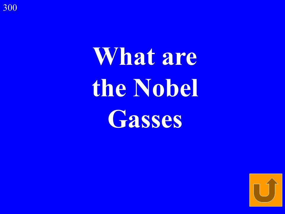 What are the Nobel Gasses 300