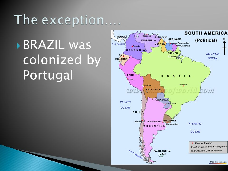 BRAZIL was colonized by Portugal