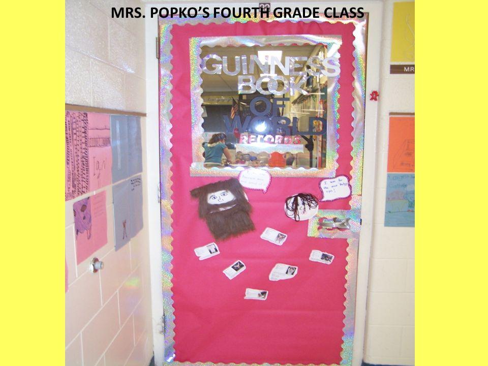 MRS. POPKOS FOURTH GRADE CLASS