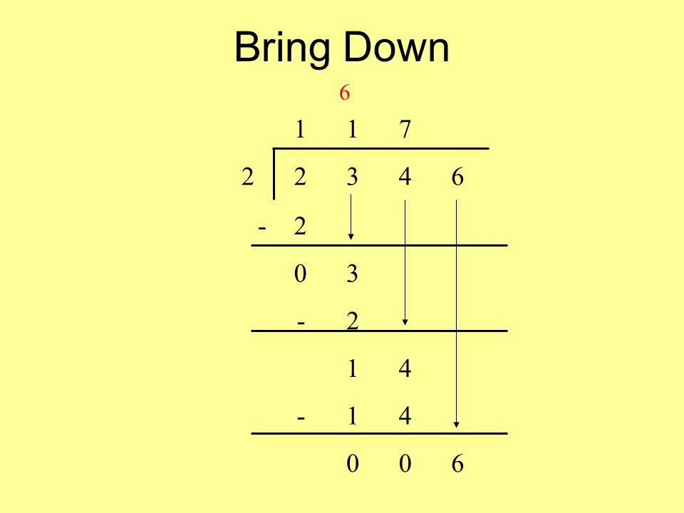 Bring Down 6 117 22346 -2 03 -2 14 -14 006