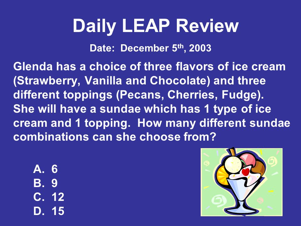 Daily LEAP Review Date: February 17th, 2004 Use the numbers below to answer the question.