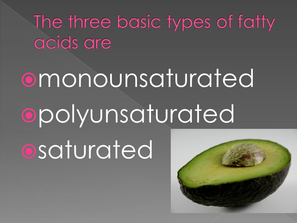 monounsaturated polyunsaturated saturated