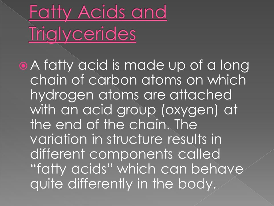 The major distinction among fatty acids is the degree of saturation, which refers to the number of hydrogen atoms that are attached to the carbon chains.