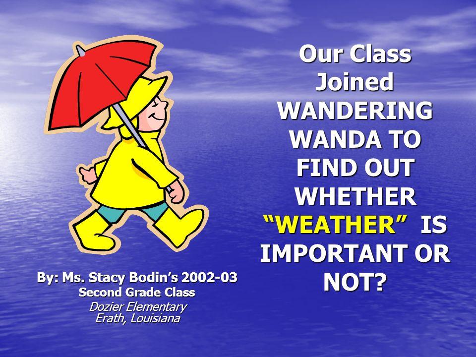 Wandering Wandas Wonderful Weather Journey (Part III)