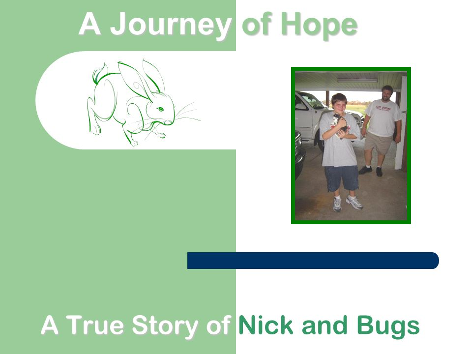 A Journeyof Hope A Journey of Hope A True Story of A True Story of Nick and Bugs