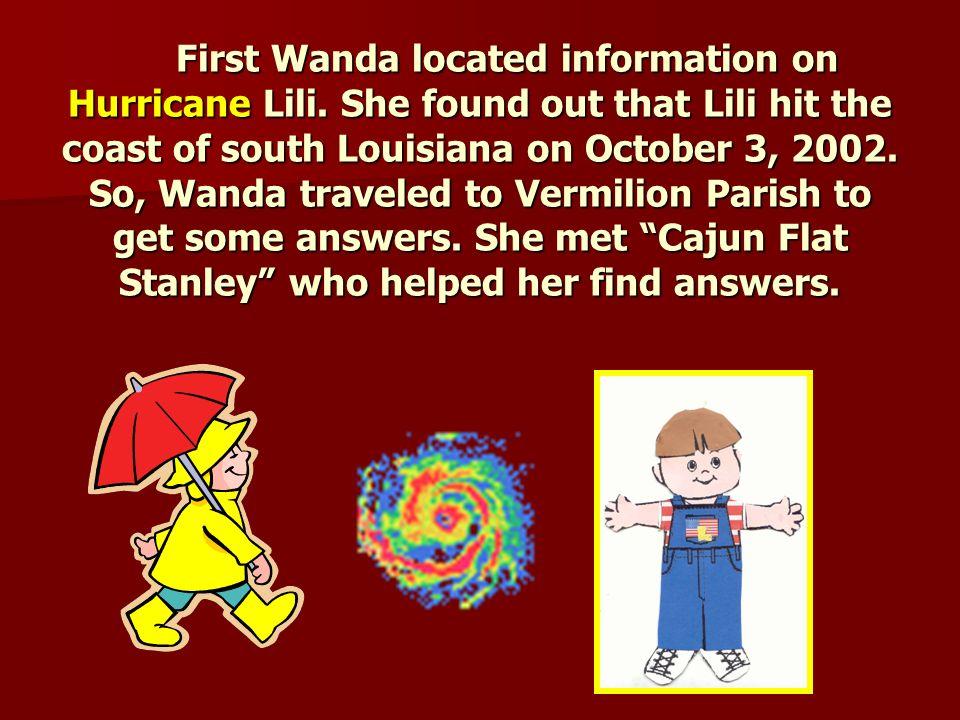 Wandering Wanda wanted to understand hurricanes.