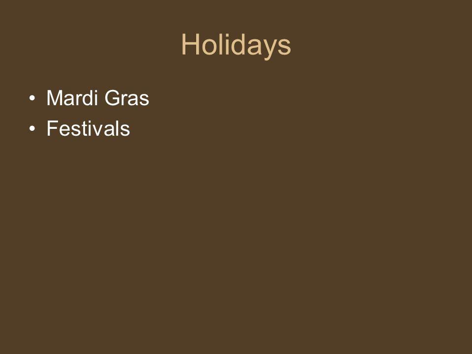 Holidays Mardi Gras Festivals