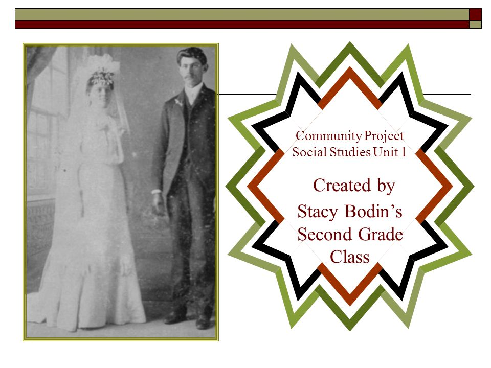 Community Project Social Studies Unit 1 Created by Stacy Bodins Second Grade Class