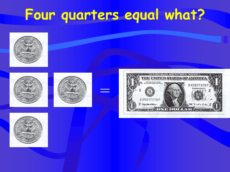 Two half dollars equal what? =