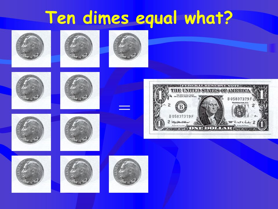 Five pennies equal what coin? =
