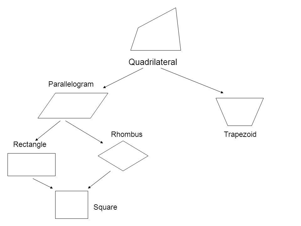 Quadrilateral Parallelogram Rhombus Rectangle Square Trapezoid