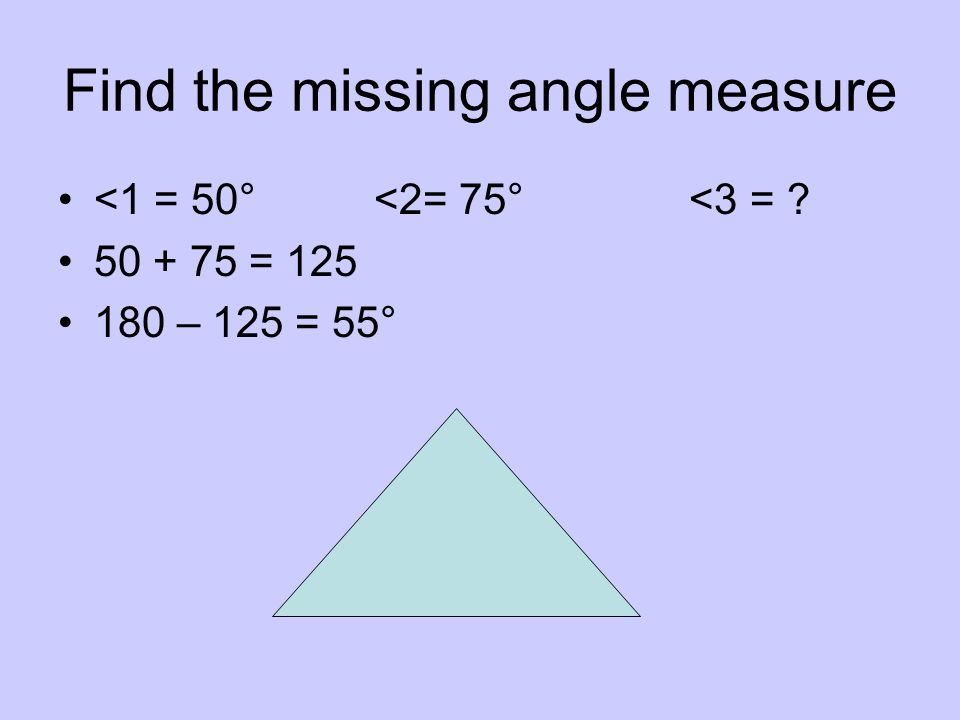 Find the missing angle. Then classify the triangle as acute, right, or obtuse. 50 °, right x 40°