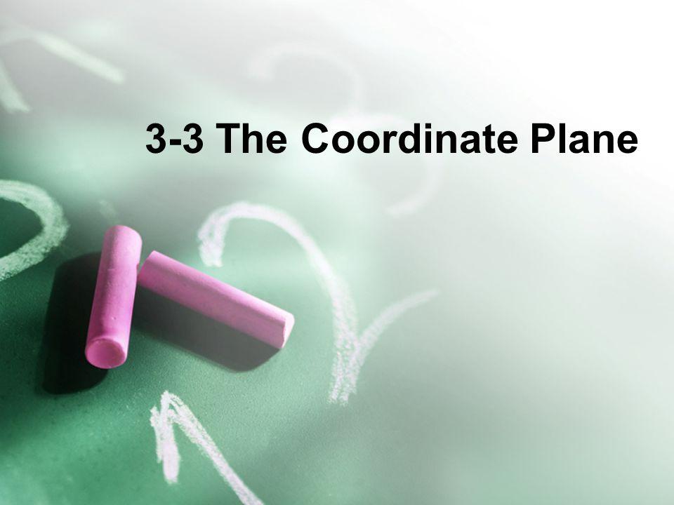 3-3 The Coordinate Plane