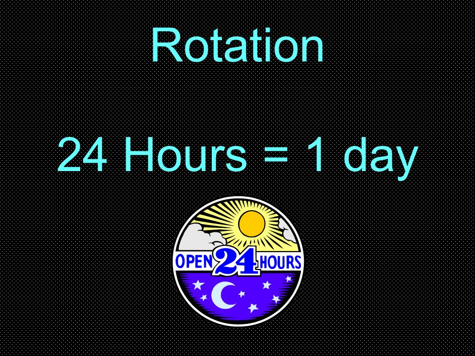 24 Hours = 1 day