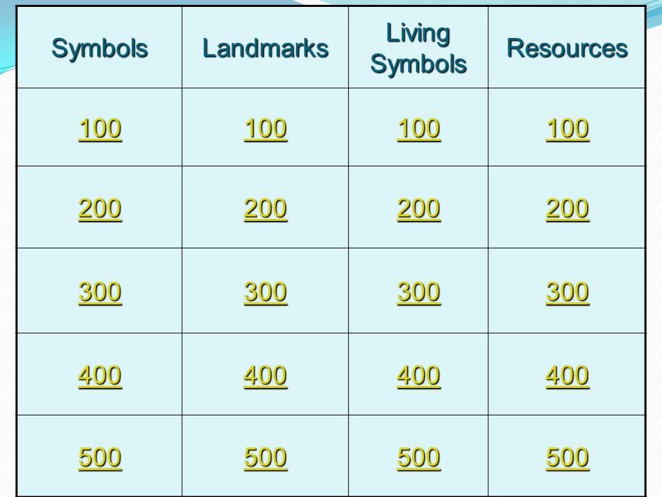 SymbolsLandmarks Living Symbols Resources 100 200 300 400 500