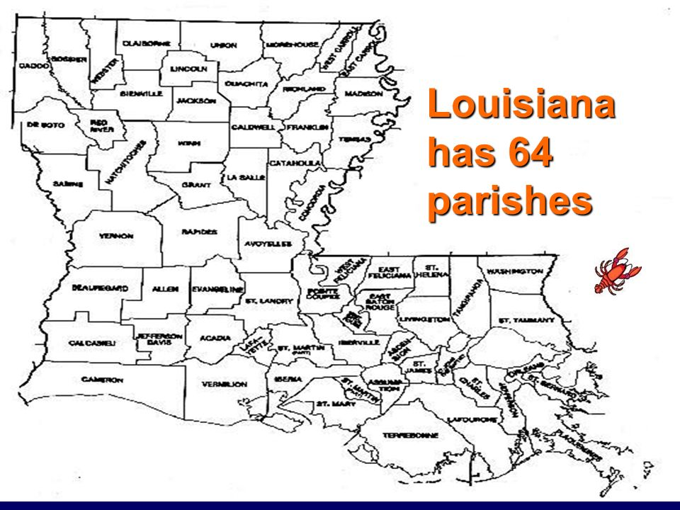 Louisiana has 64 parishes