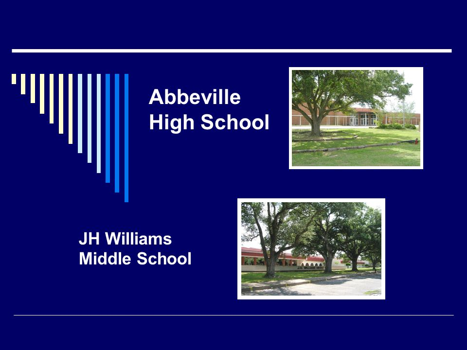 Abbeville High School JH Williams Middle School