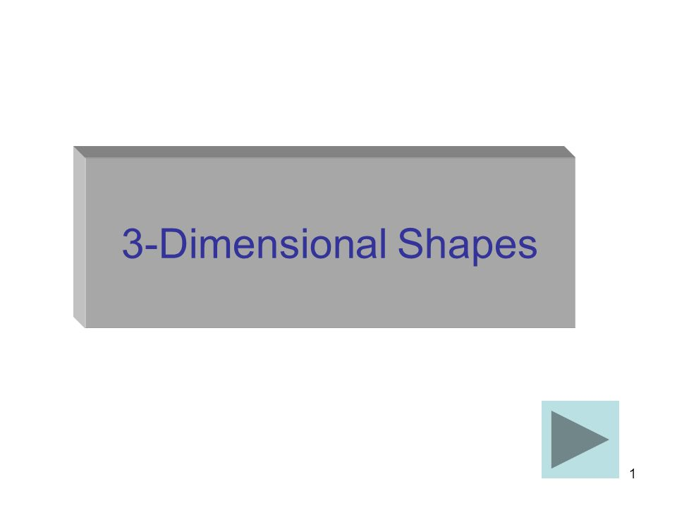 1 3-Dimensional Shapes