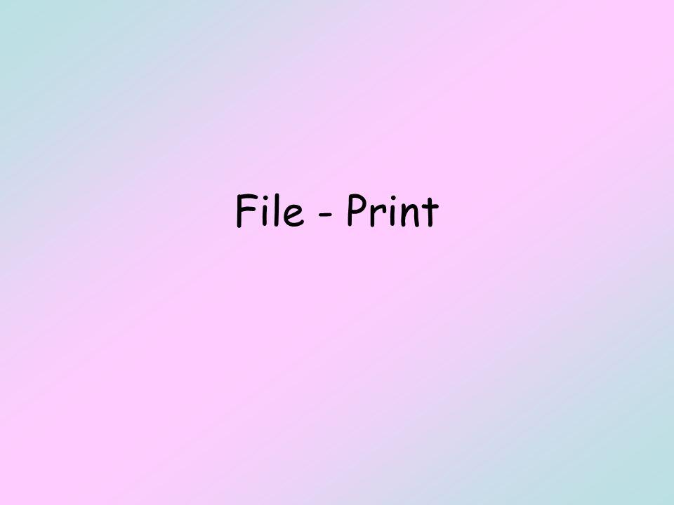 File - Print