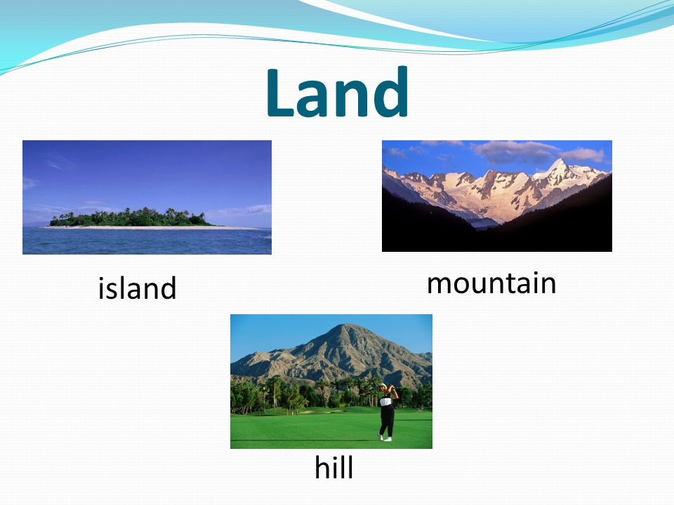 Land island mountain hill