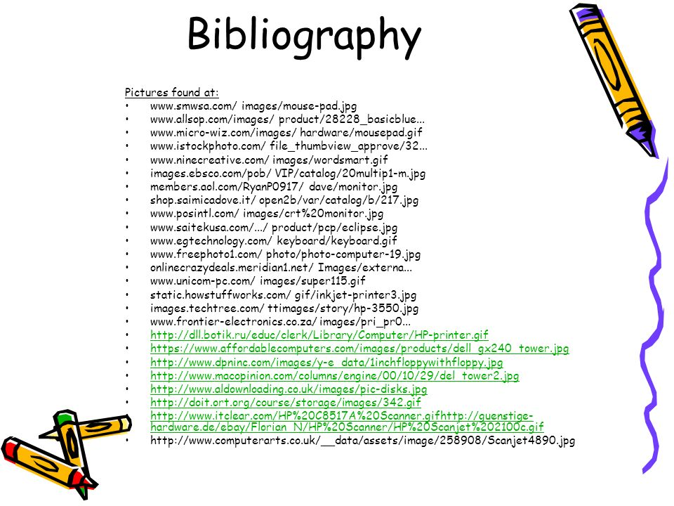 Bibliography Pictures found at: www.smwsa.com/ images/mouse-pad.jpg www.allsop.com/images/ product/28228_basicblue...
