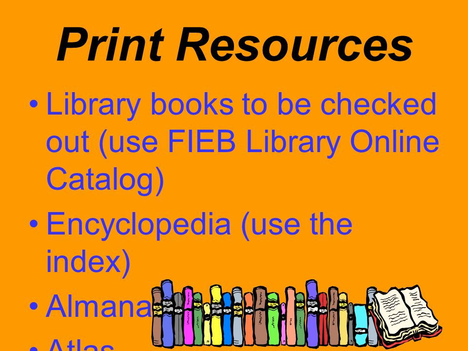 World Book and EBSCO These sources can be accessed through the Vermilion Parish Schools Website.