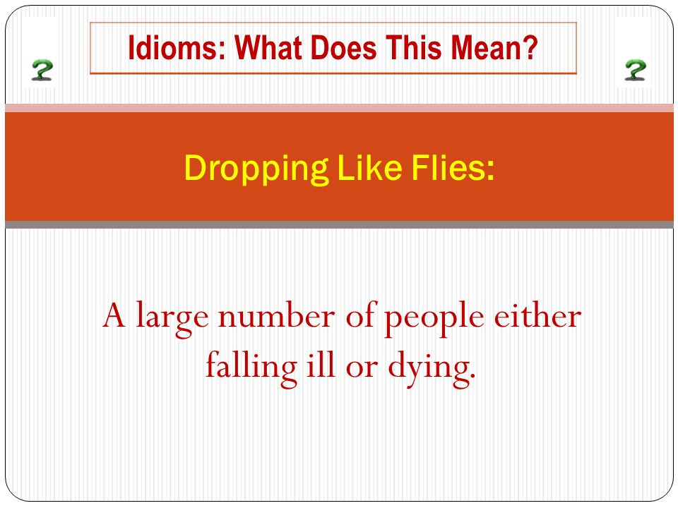 A large number of people either falling ill or dying.