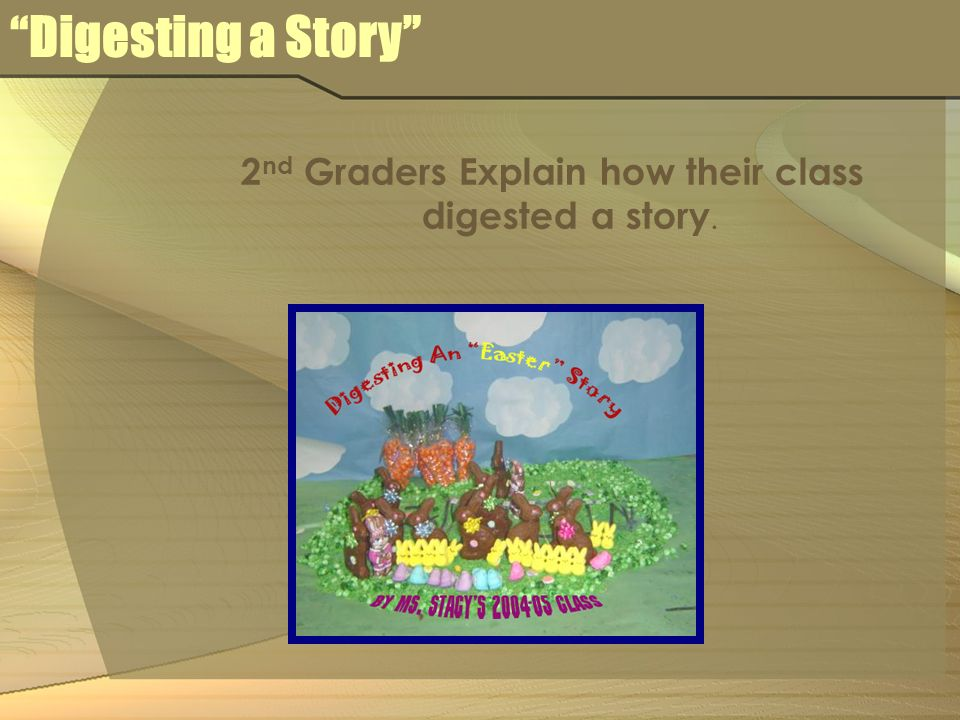 Digesting a Story 2 nd Graders Explain how their class digested a story.
