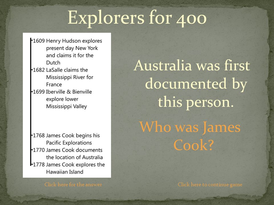 Who was James Cook.