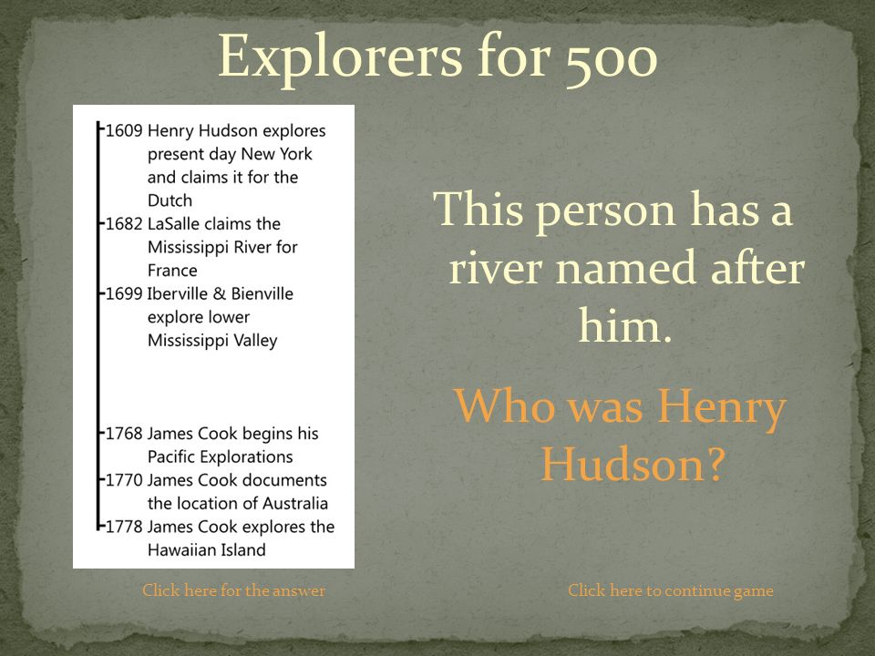 Who was Henry Hudson.