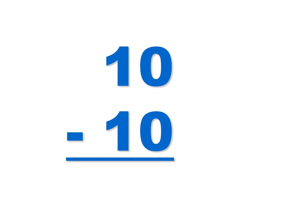 10 - 10 10 - 10
