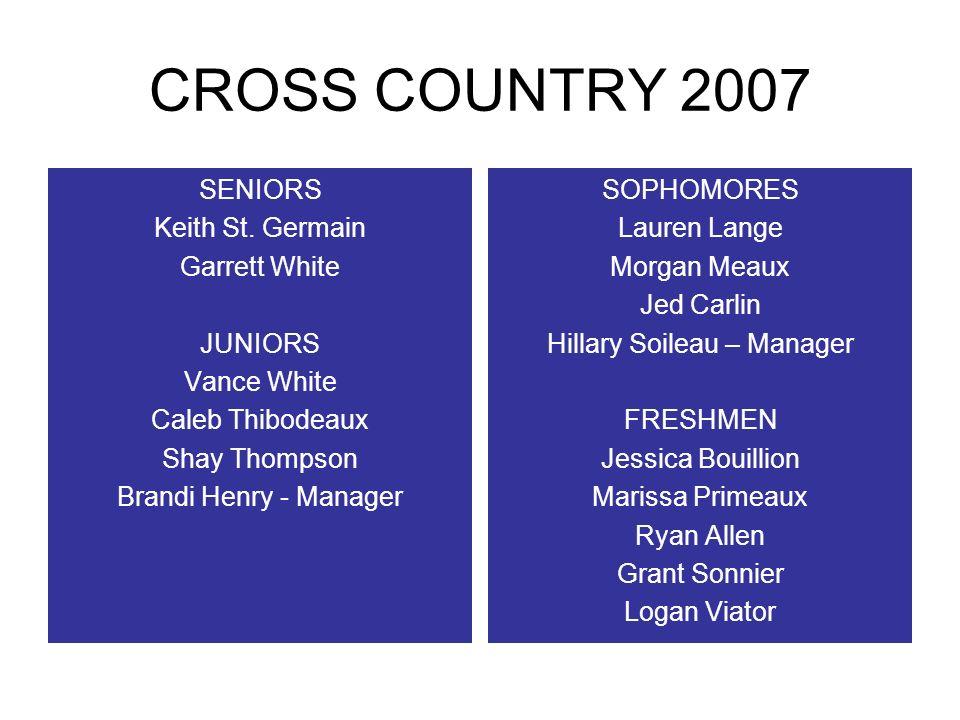 CROSS COUNTRY 2007 SENIORS Keith St.