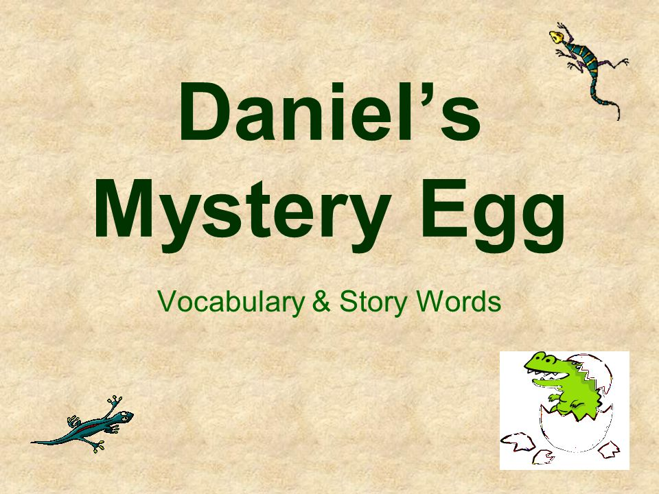 Daniels Mystery Egg Vocabulary & Story Words