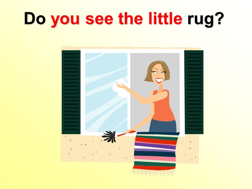 Do you see the little rug?
