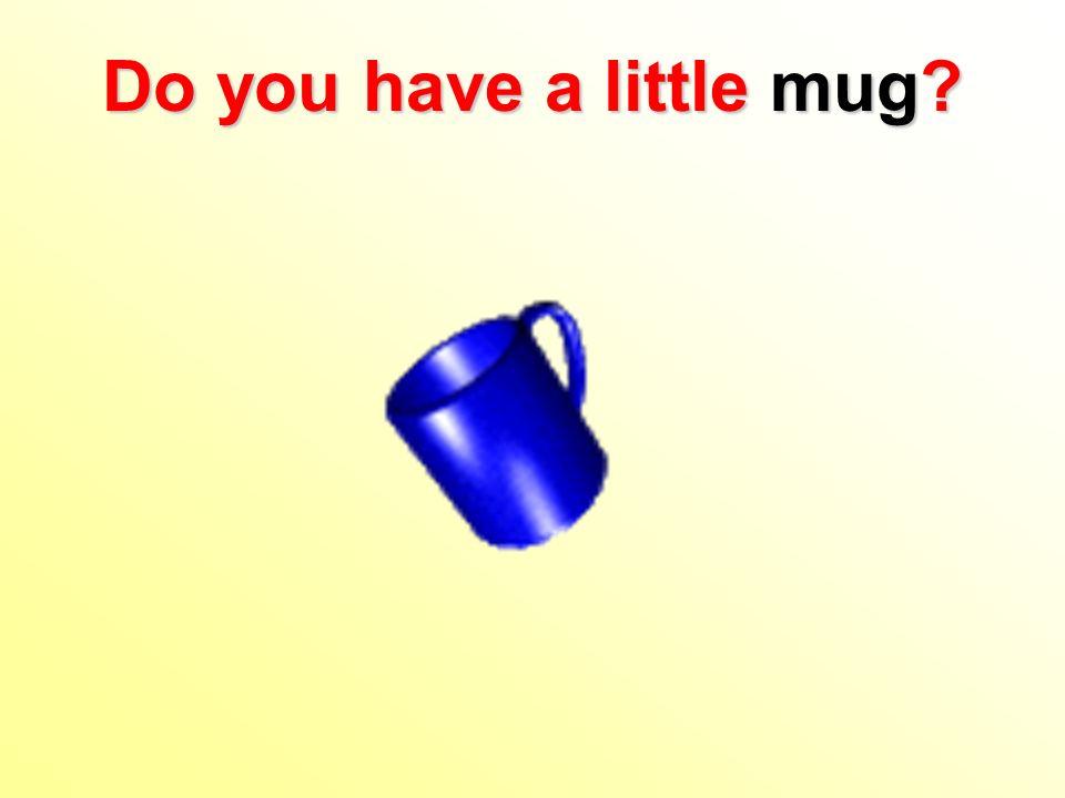 Do you have a little mug?