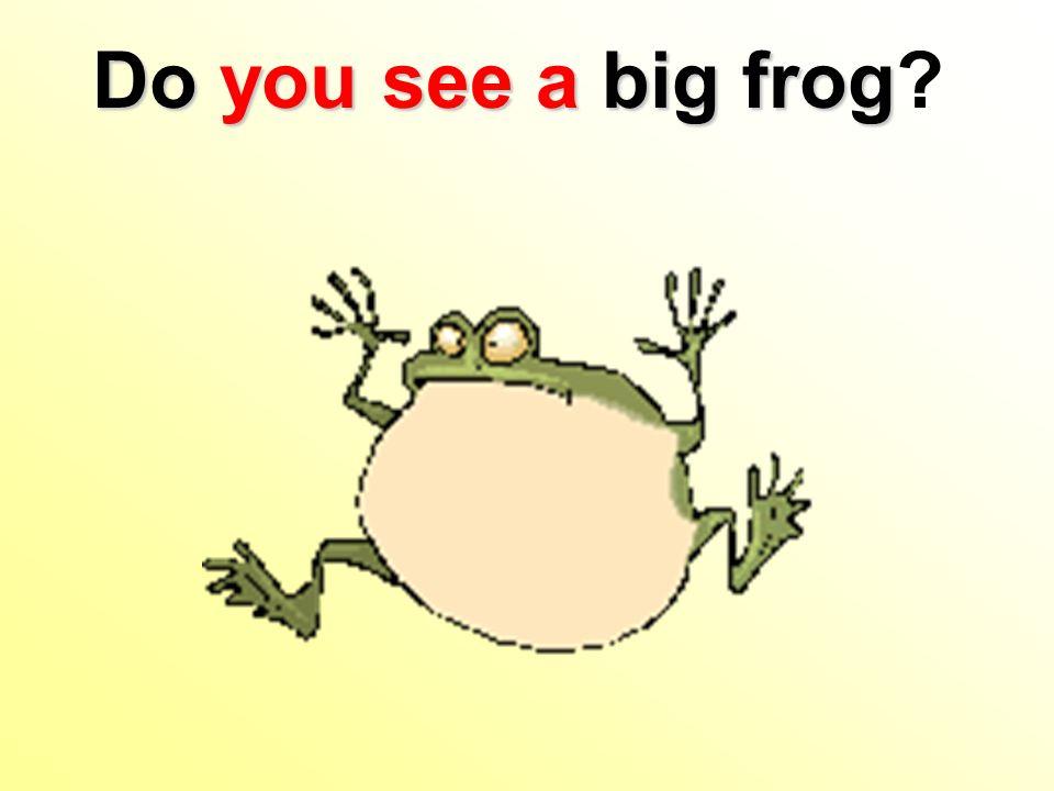 Do you seea big frog Do you see a big frog