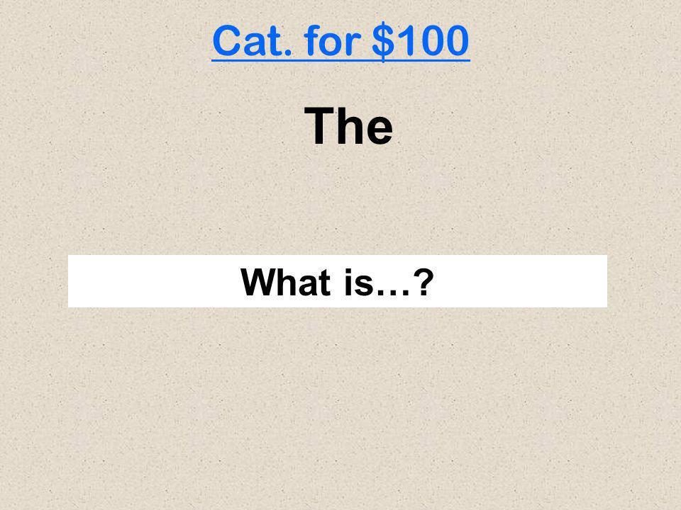 500 100 200 300 100 300 200 300 200 100 200 500 300 200 100 400 Cat. 1 Cat. 2 Cat. 4 Cat. 5 Cat. 3