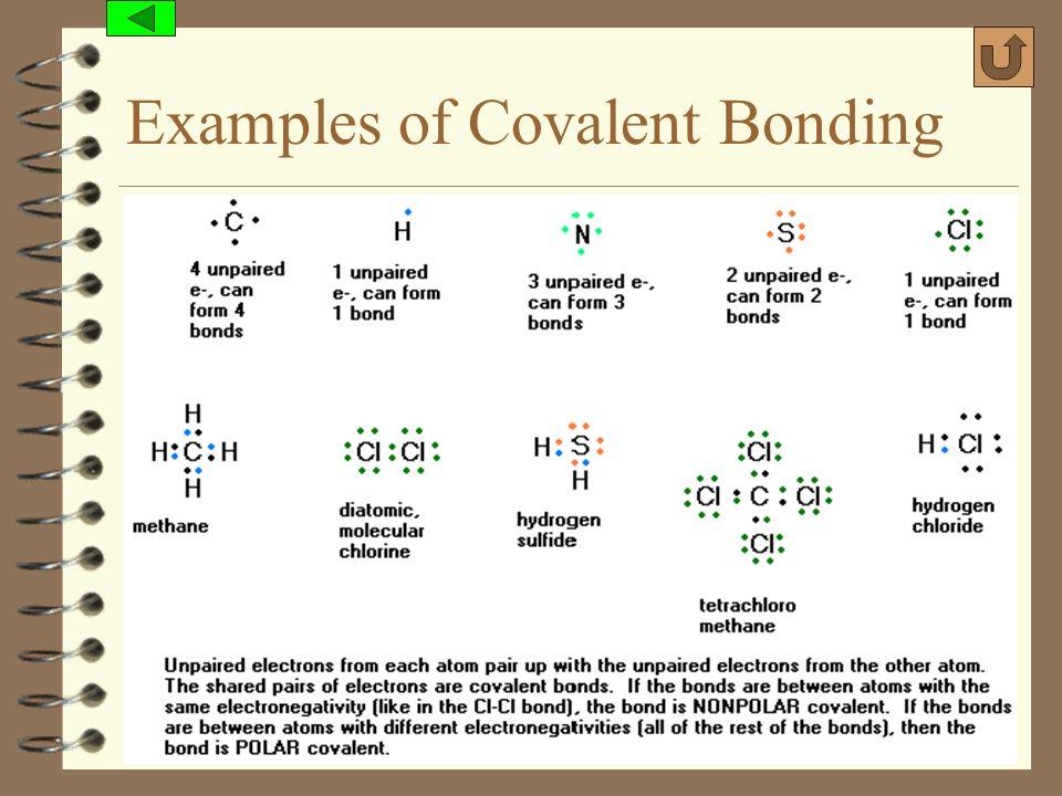 (c) 2006, Mark Rosengarten Examples of Covalent Bonding
