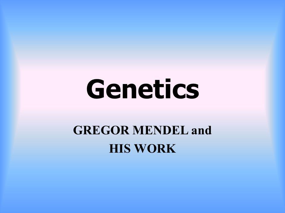 Genetics GREGOR MENDEL and HIS WORK