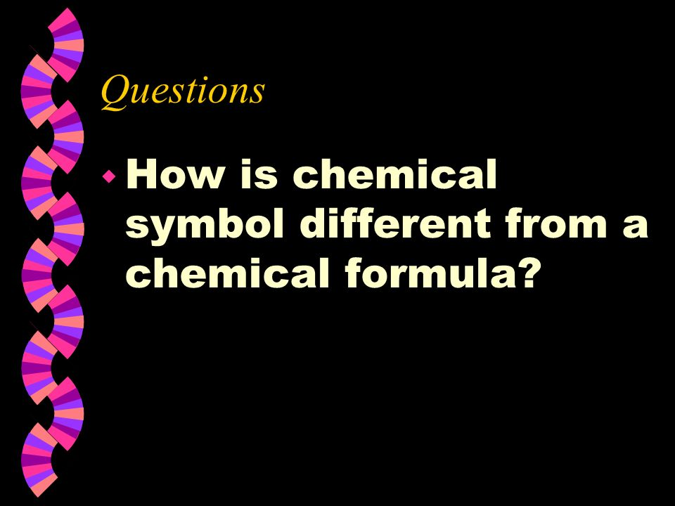 Subscript w A subscript is placed to the lower right of the chemical symbol w It gives the number of atoms of the element