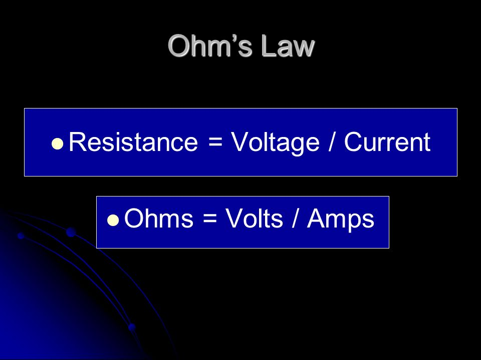 Difference b/t Volts and Amps Example – you could say that… Example – you could say that… Amps measure how much water comes out of a hose. Amps measur