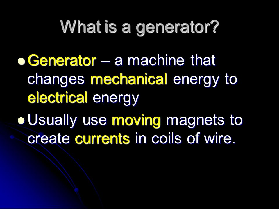 What is an electromagnet? Electromagnet – a magnet made from a current bearing coil of wire wrapped around an iron or steel core. Electromagnet – a ma