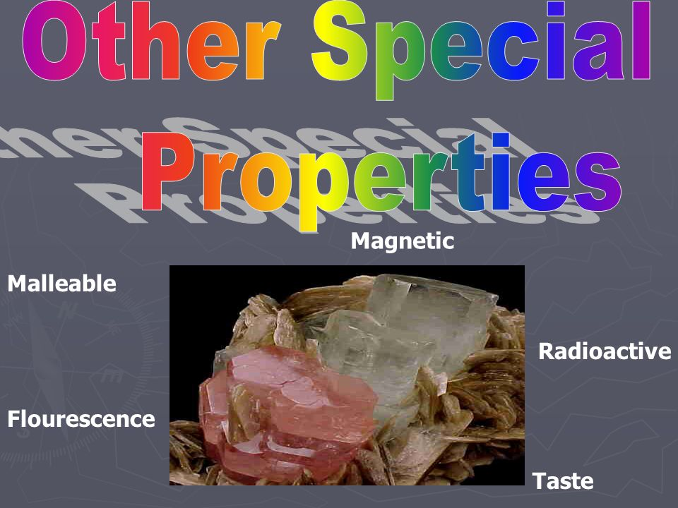 Calcite is calcium carbonate, CaCO 3. If a drop of weak hydrochloric acid is placed on calcite, the acid bubbles as carbon dioxide is released.