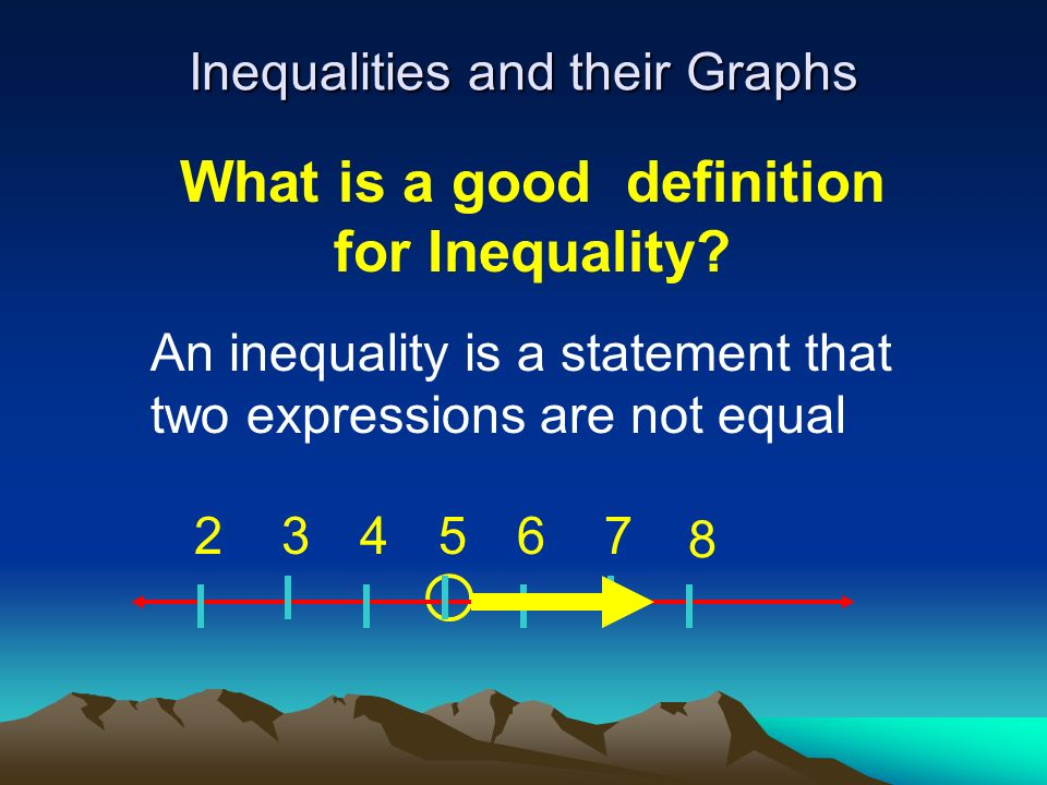 Objective: To write and graph simple inequalities with one variable