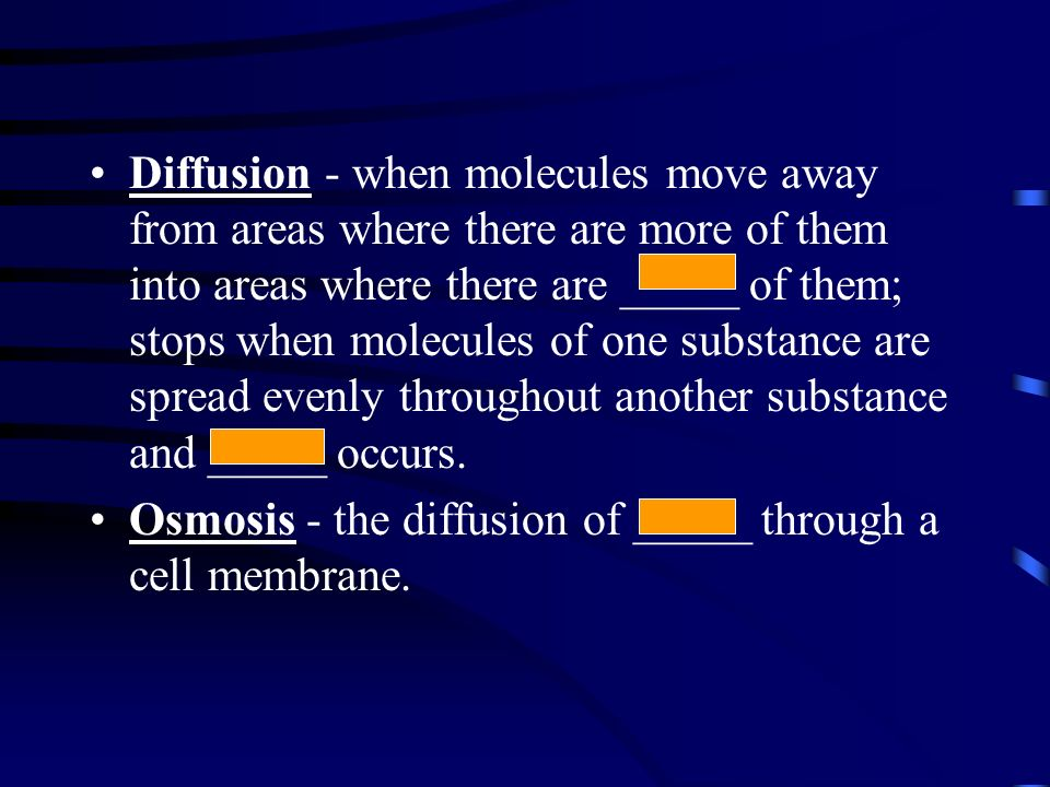Moving Cellular Materials Cells have a _____ membrane that regulates what goes into or out of the cell. Passive transport - the movement of substances